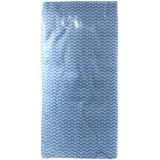 Полотенце спанлейс 35х70 №50 сложение плотн 40 волна голубые*20