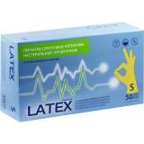 Перчатки Латексные опуд. TOP GLOVE н/с S (прод по 50 пар) белые Тайланд*500 3423