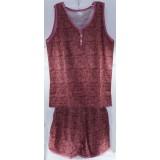 Пижама жен 46-52р (майка+шорты) (прод по 6) тем.роз