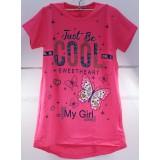Футболка детс. дев. Cool (9-12 лет) (прод по 4шт) розовая